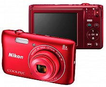 Фотоаппарат Nikon Coolpix S3700 Red уценённый